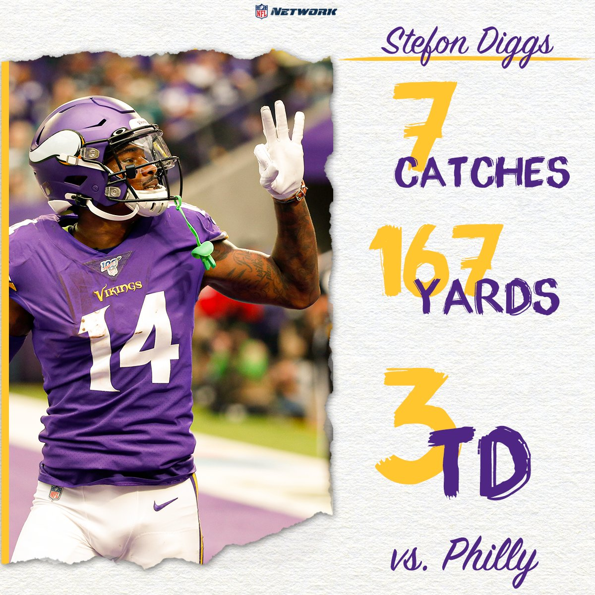 infographic of Stefon Diggs via nhl network on twitter