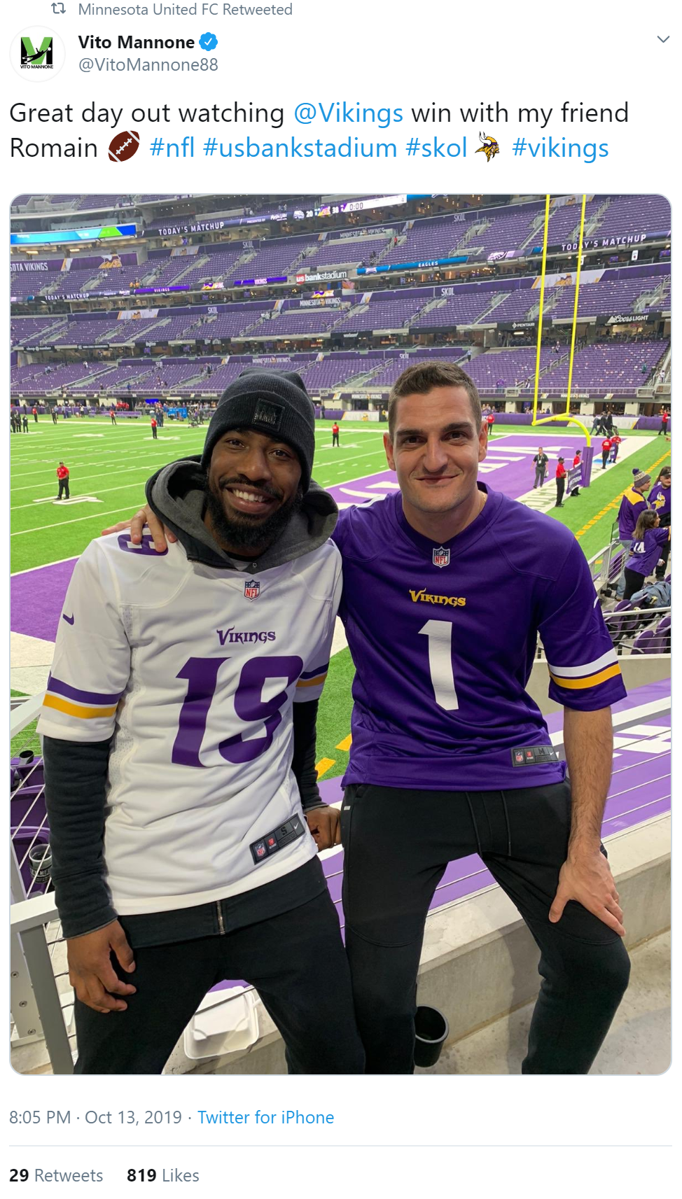 vito at vikings game