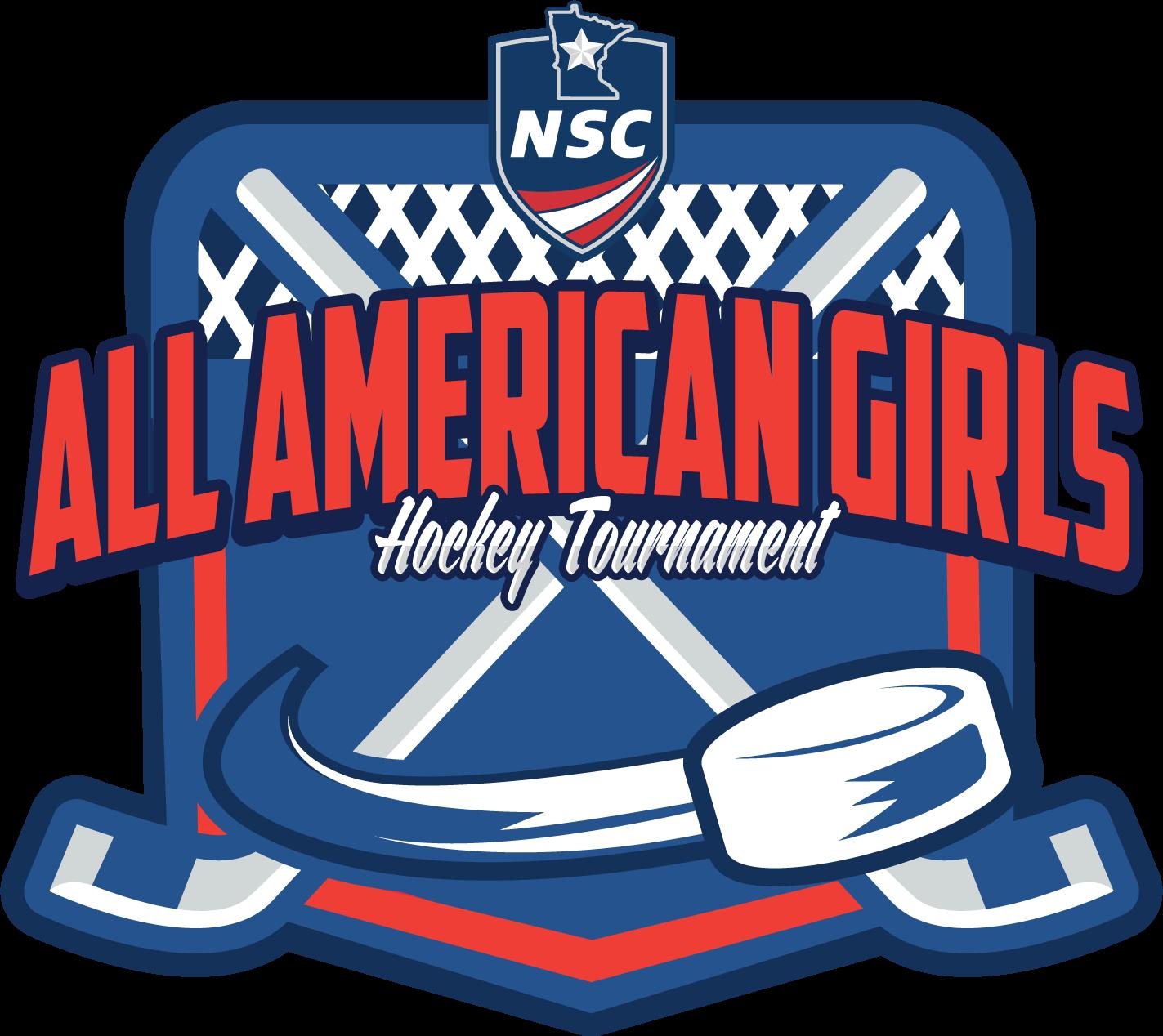 All-American Girls Hockey Tournament Logo