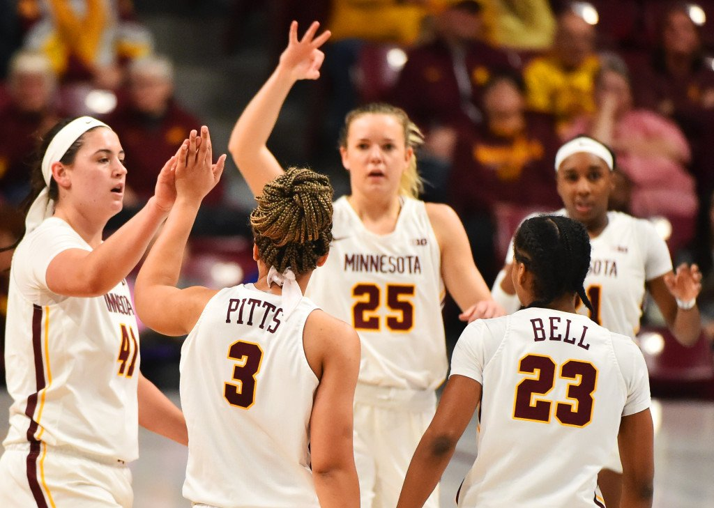 pioneer press twitter image of gopher womens basketball