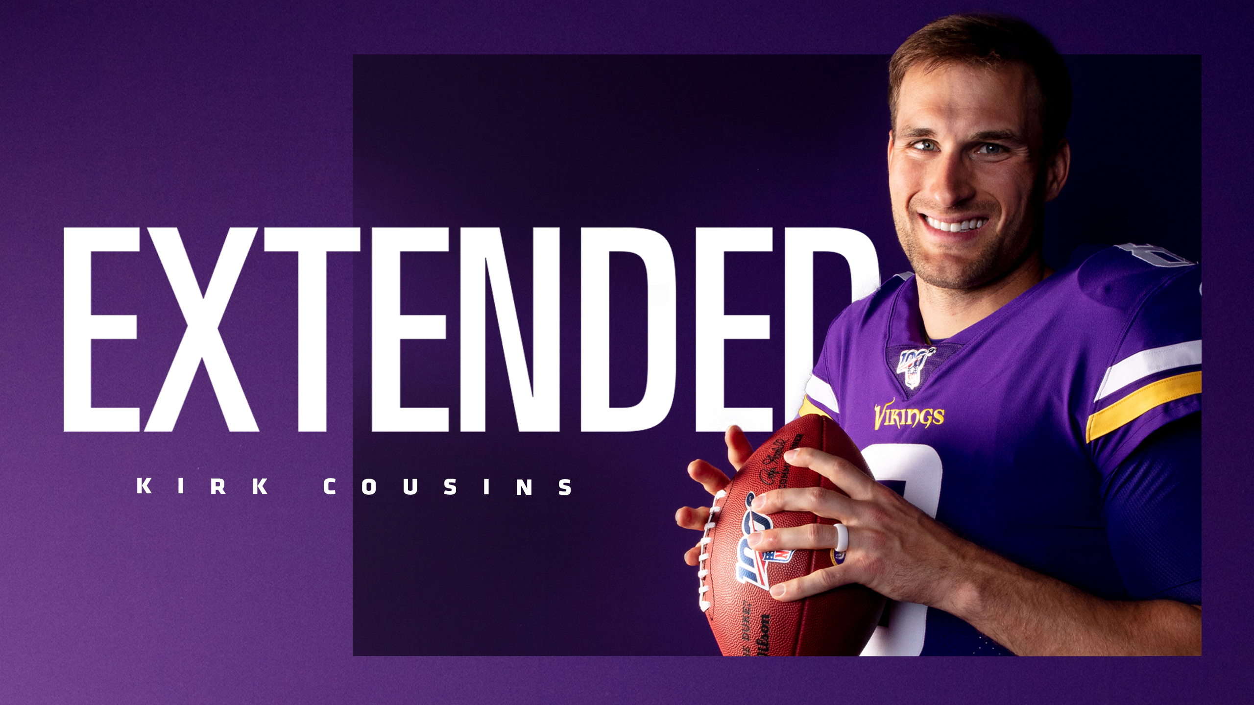 NFL Kirk Cousins extended contract graphic