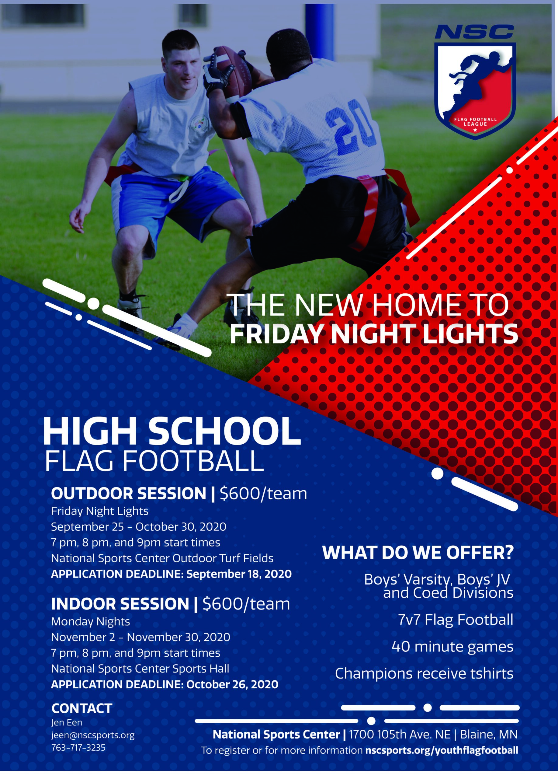 20 Youth Flag Football Flyer